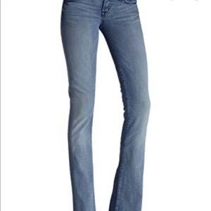 7 For All Mankind Rocker light gray jeans. Size 29